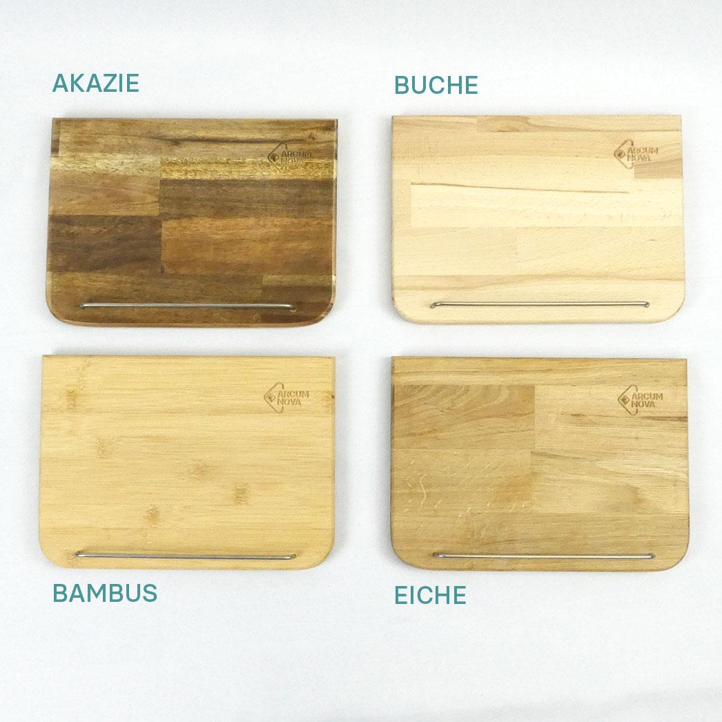 Holzauswahl für Tischpult für Tablets
