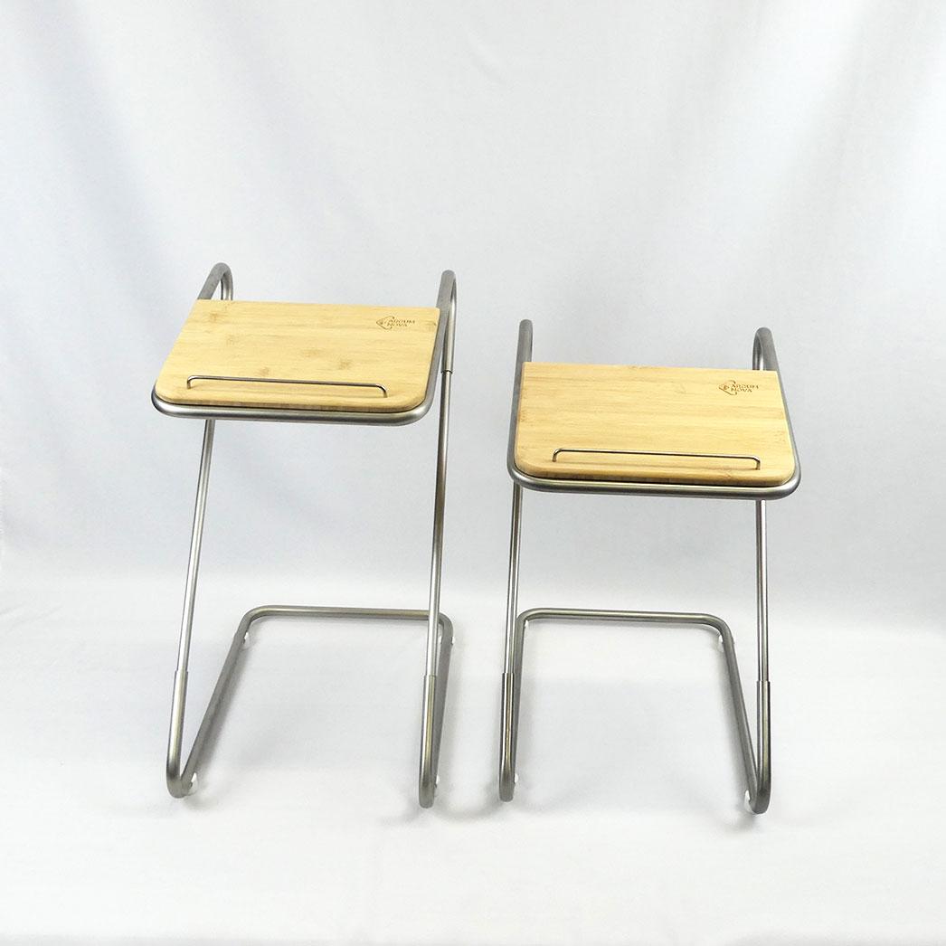 Tischpult schmal in zwei verschiedenen Höhen