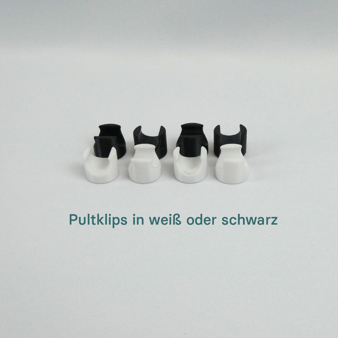 Pulklips in schwarz oder weiß