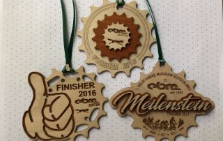 Die früheren Finisher-Medaillen